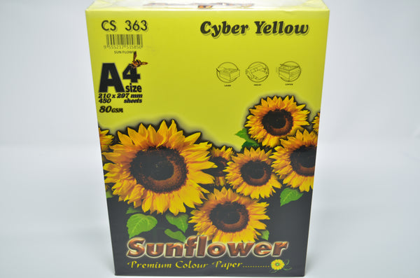 Sunflower A4 Paper 80GSM Cyber Yellow-450'S CS363
