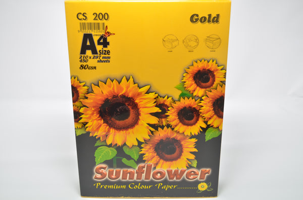 Sunflower A4 Paper 80GSM Gold -450'S CS200