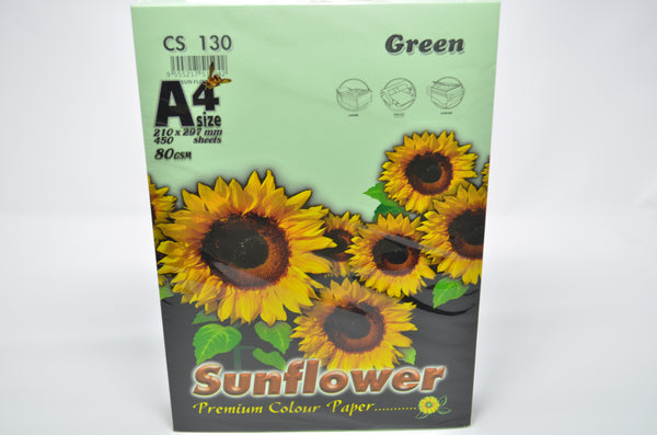 Sunflower A4 Paper 80GSM Green -450'S CS130
