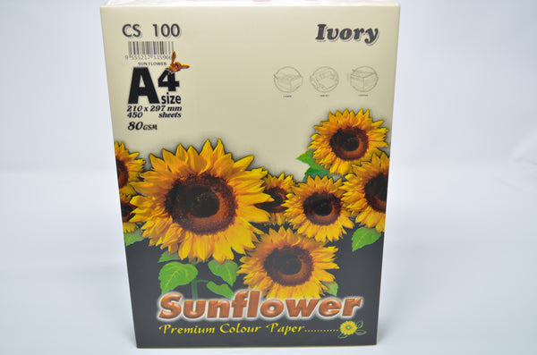 Sunflower A4 Paper 80GSM Ivory -450'S CS100