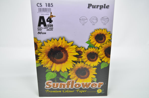 Sunflower A4 Paper 80GSM Purple -450'S CS185