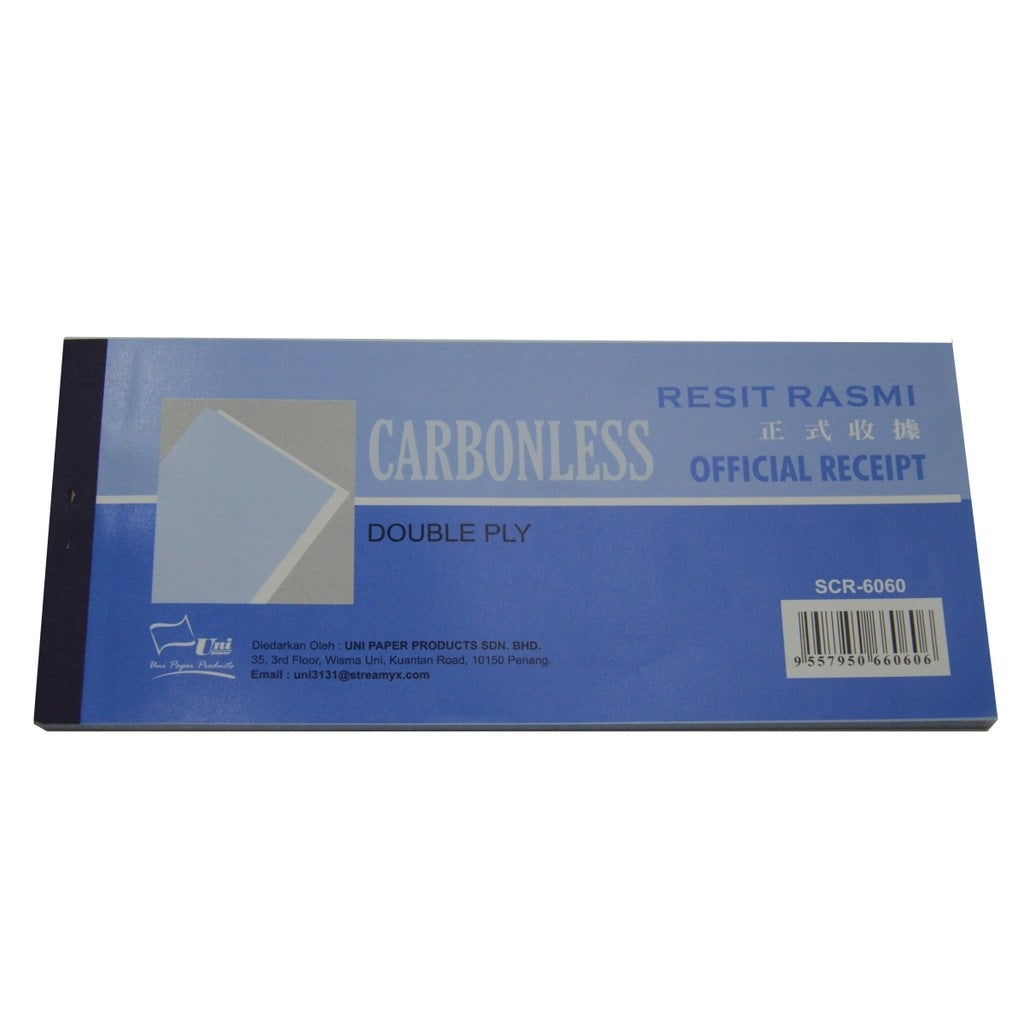 Uni Paper Carbonless Official Receipt