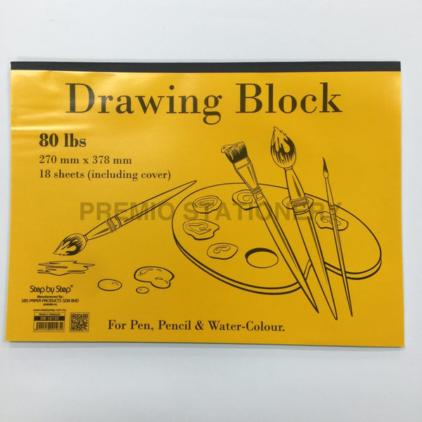 Sbs Kids Drawing Block 18 Sheets Art Supplies