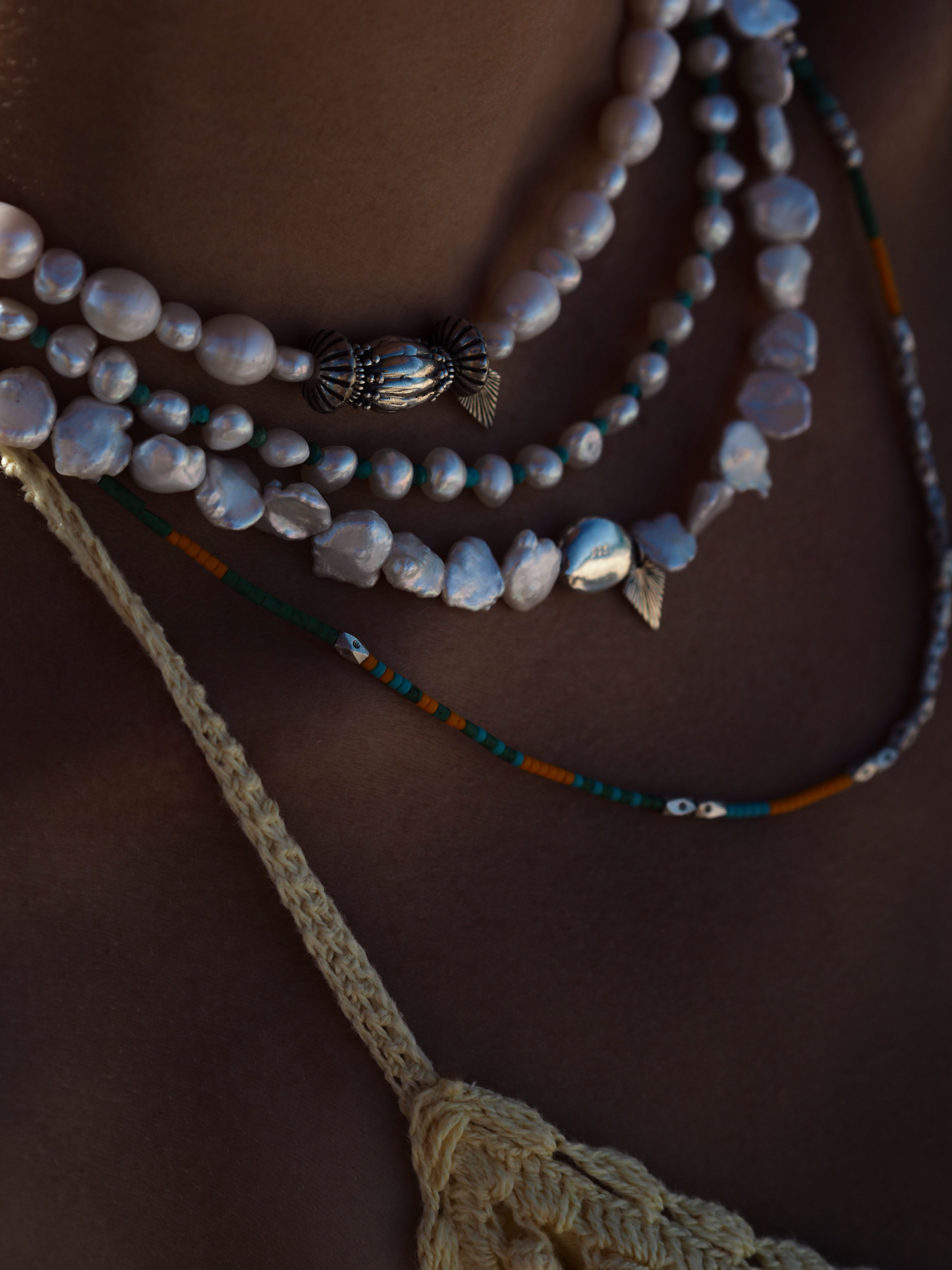 "FRESHWATER + TURQUOISE ""Collier"""