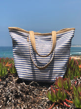 Straw Handle Beach Bag