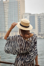 Zebra Beach Kaftan With Wide Sleeves