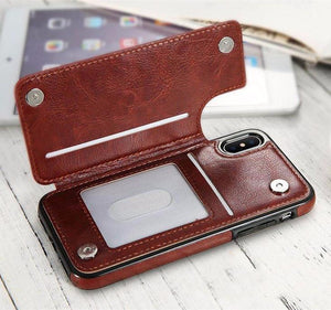 Leather iPhone Case & Multi Card Holder