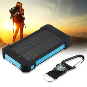 Wireless Solar Power Bank with Dual USB Output