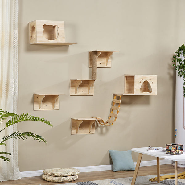 *MADE TO ORDER* Modern Furniture Cat Wall Cat wood wall  box for your cat cat tree indoor cat wood box