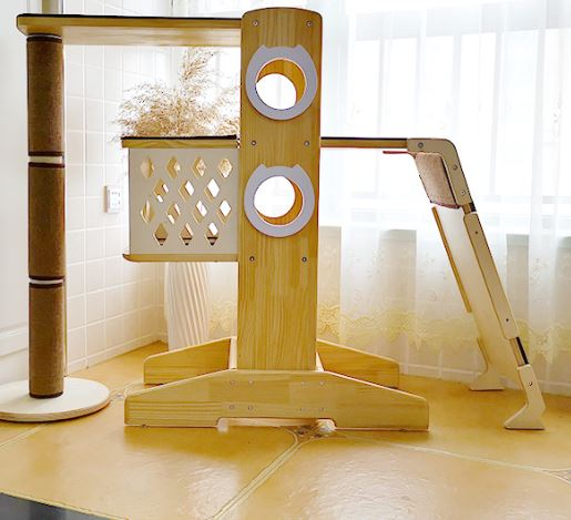 *MADE TO ORDER* Wood modern cat tree cat bed safe and happy furniture for your lovable cats