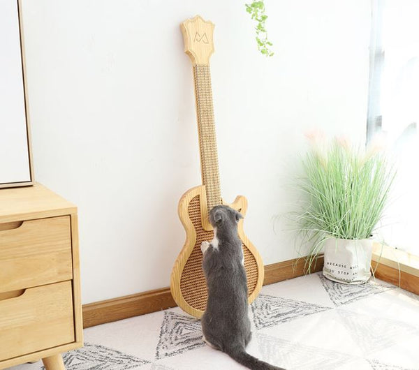 *MADE TO ORDER* Modern Cat Scratcher  Cat wood scratch guitar