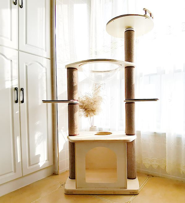 *MADE TO ORDER* Modern premium cat wood tree series very cozy and enjoyable for your cats