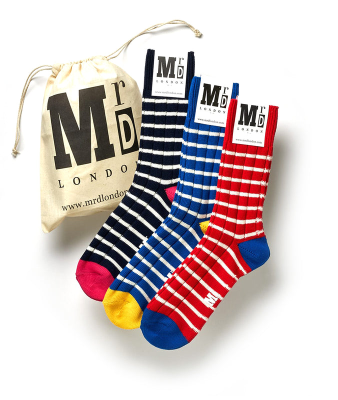 Chunky Stripe Sock Pack - Multi 1