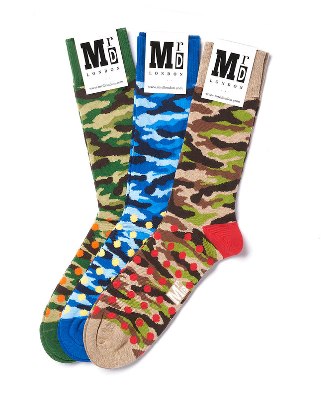 Assorted Camouflage Sock Pack - Multi 1