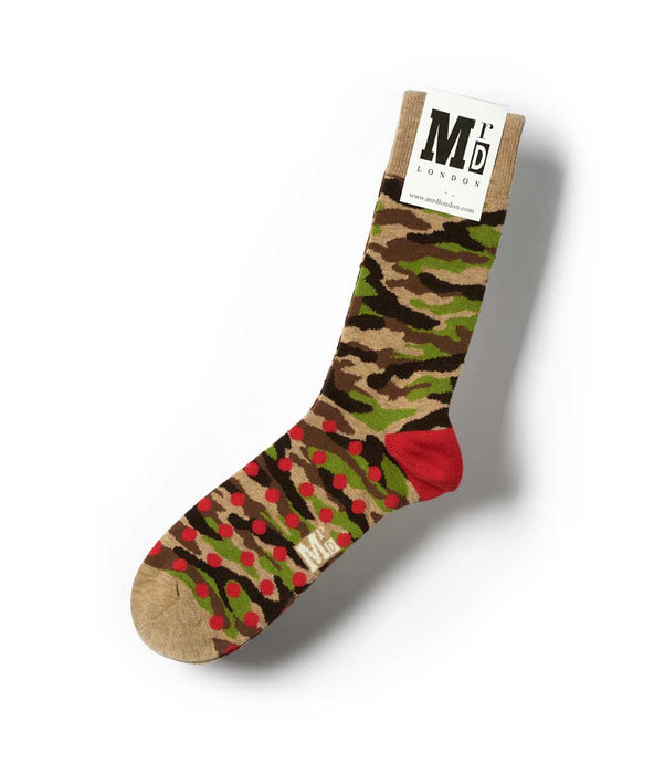 Camouflage Fine Sock - Sand