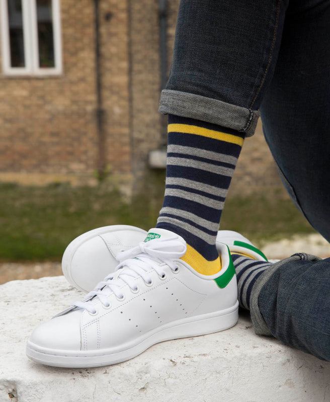 Team Stripe Fine Sock - Yellow 3