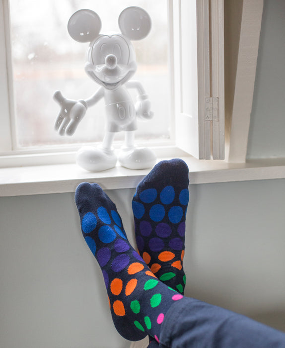 Spotted Fine Sock - Navy Multi 3