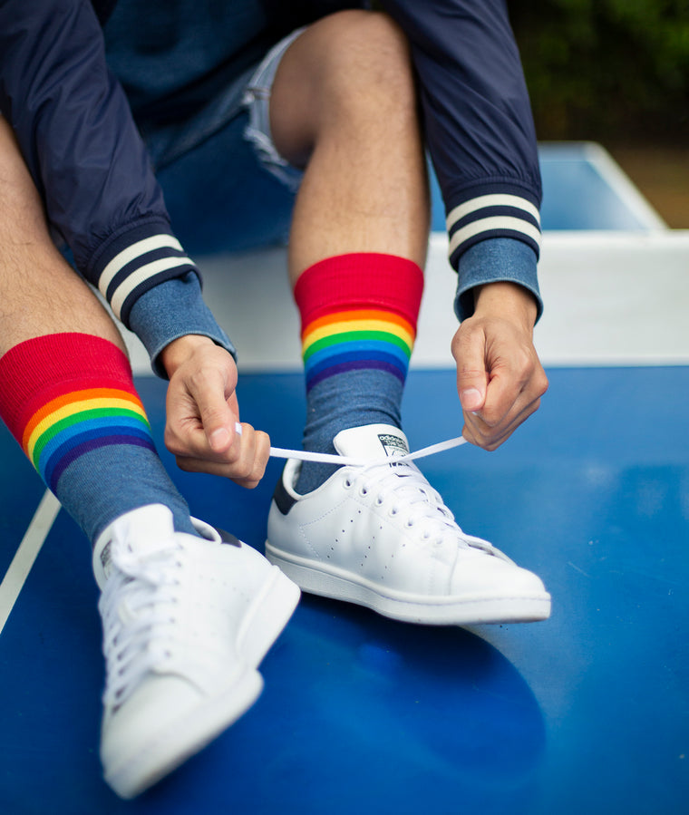 Rainbow Fine Sock - Blue