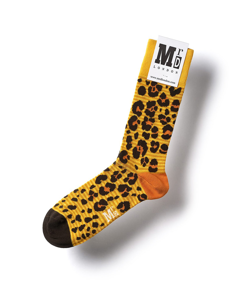 Leopard Spotted Fine Sock - Yellow 1