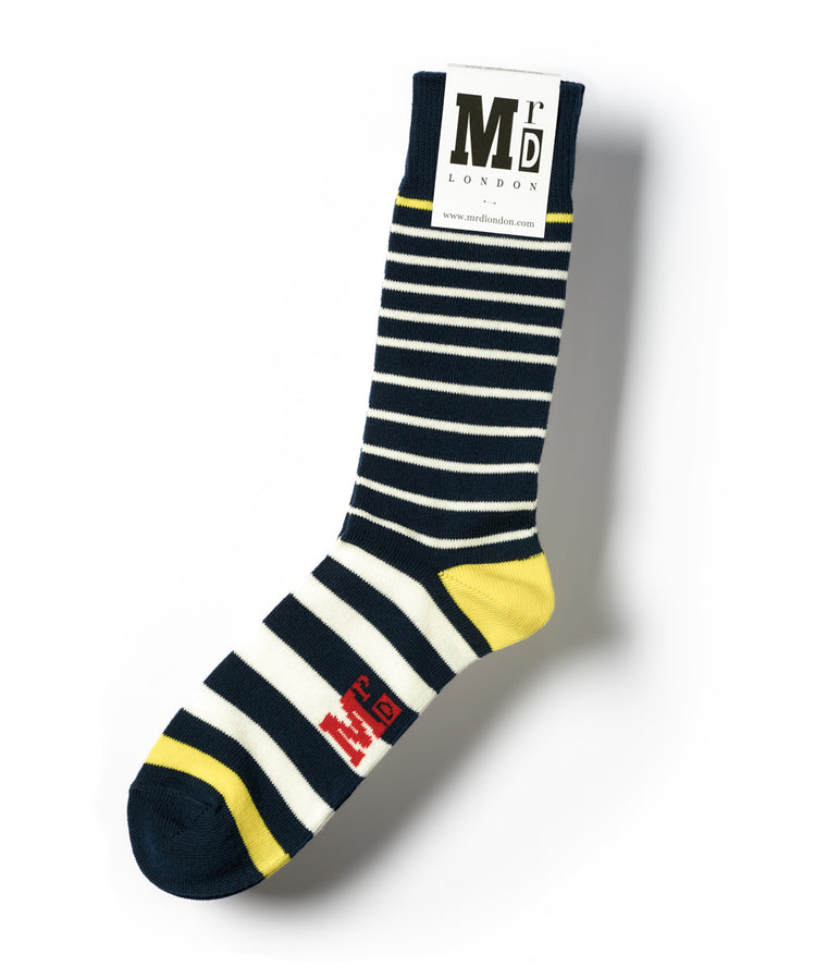 Breton Stripe 9 Gauge Sock - Navy