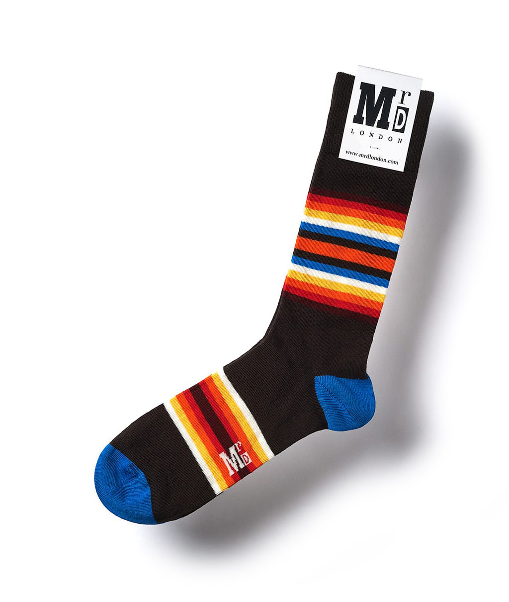Striped Fine Sock - Sunset Multi 1