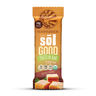 Sol Good Organic Protein Bar Salted Caramel 66 Grams x 12