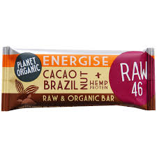 20 X Planet Organic Cacao Brazil Nut Energise Bar 30g