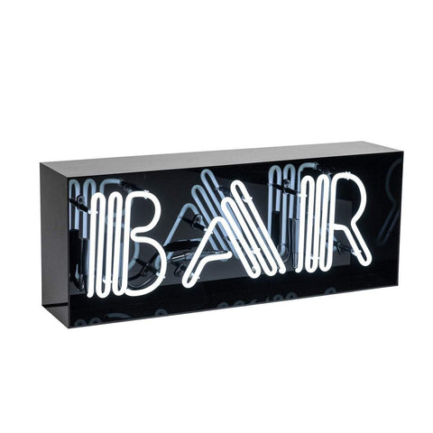 """BAR"" Acrylic Box Neon Light"