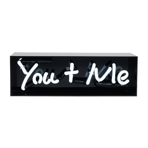 """You + Me"" Acrylic Box Neon Light"