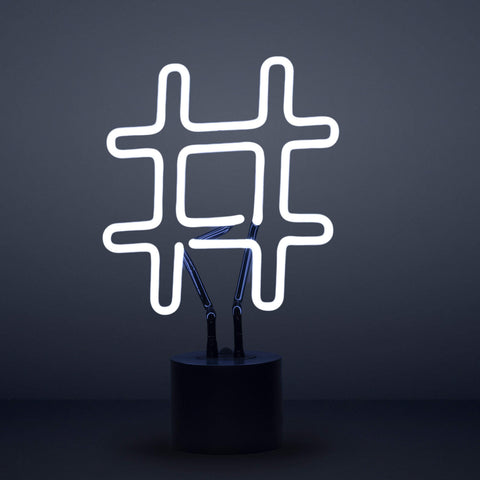 Hashtag Neon Desk Light