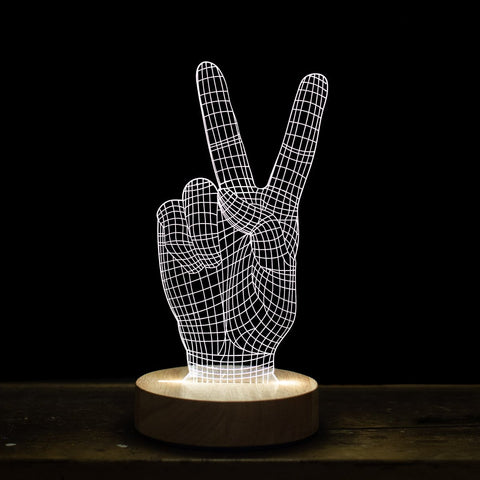 Peace Sign 3D Illusion Light