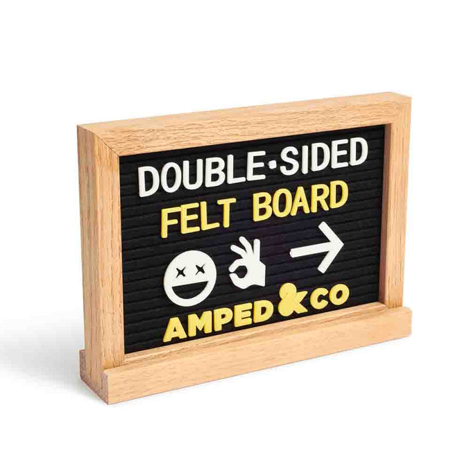 Double Sided Felt Letter Board - Black