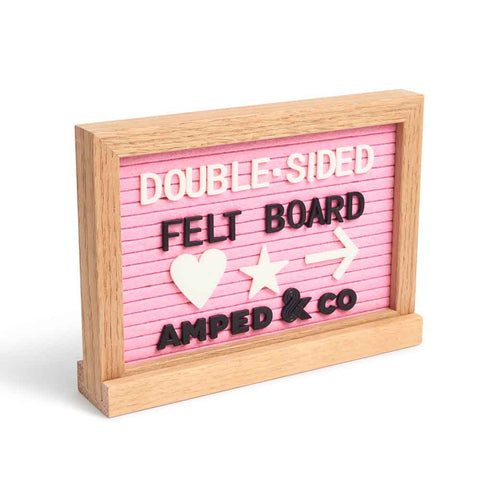 Double Sided Felt Letter Board - Pink