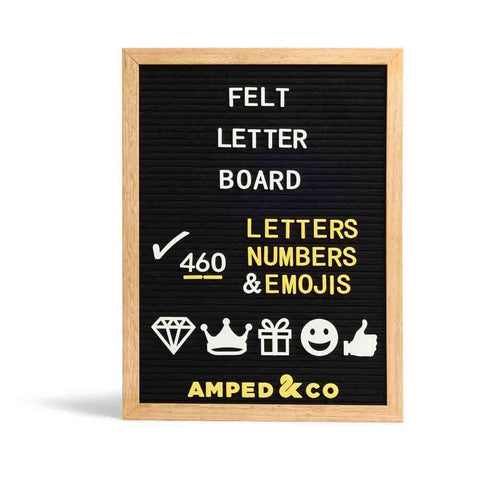 Wall Hanging Felt Letter Board - Black