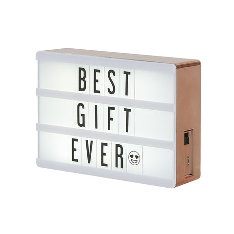 Micro Rose Gold Lightbox