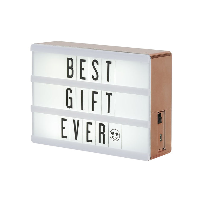 The Micro Rose Gold Lightbox