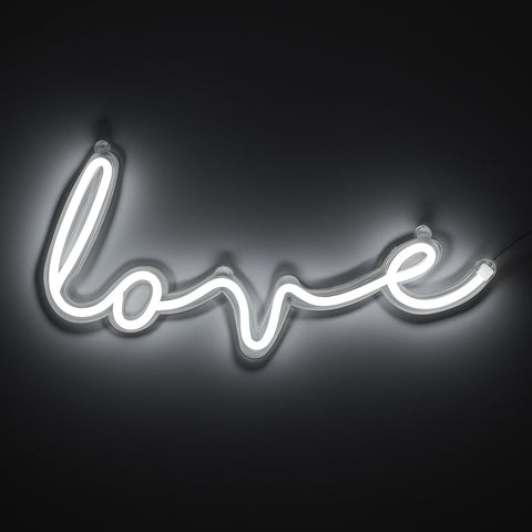 Love LED Neon Wall Light (White)