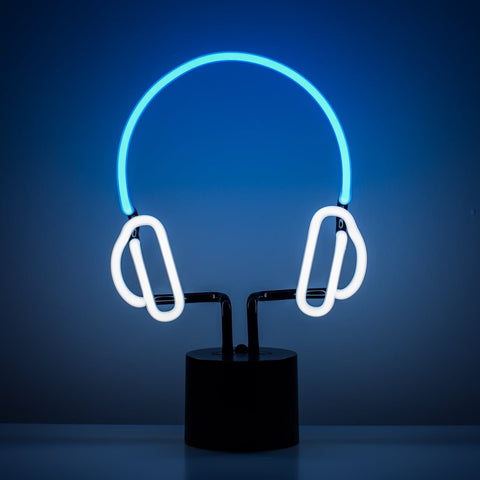Headphones Neon Desk Light