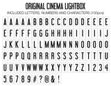 Original Lightbox (Classic) Letter Mapping