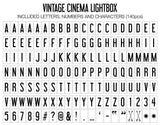 My Cinema Lightbox - Vintage Lightbox Letter Mapping