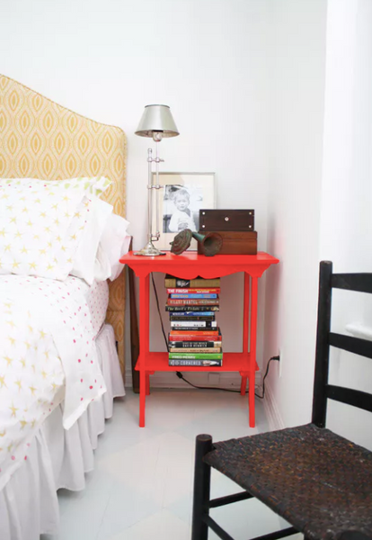 red nightstand Photo credit: Apartment Therapy