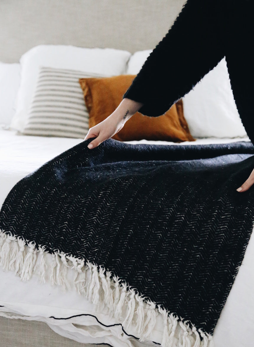 Allswell Herringbone Throw