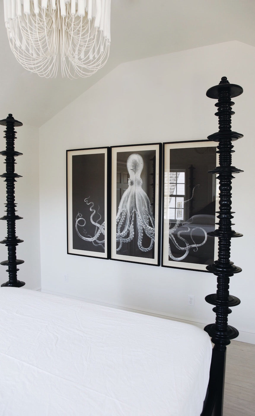 guest room octopus artwork