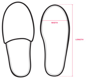 Slippers sizes