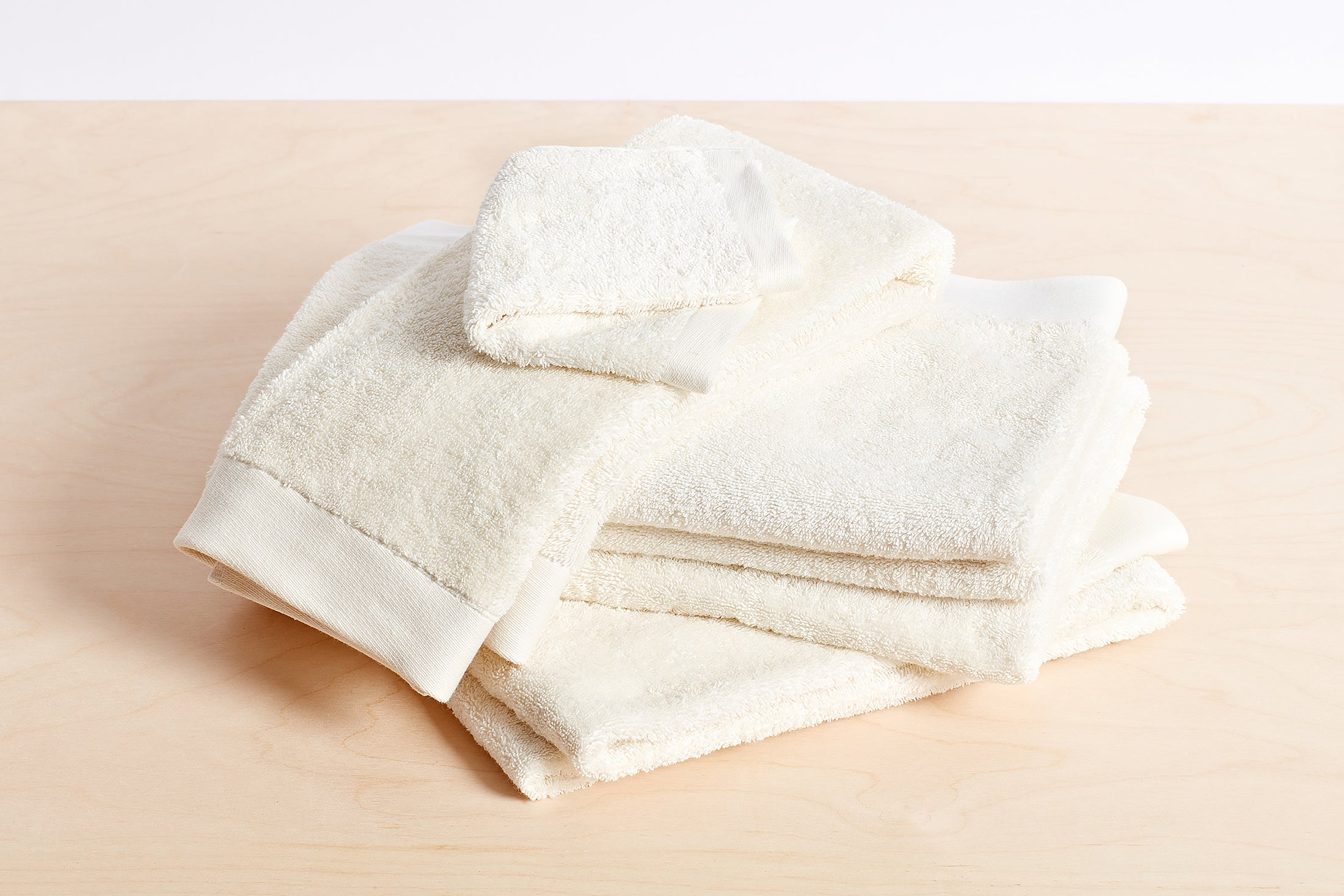 Organic Cotton Towels; color: white
