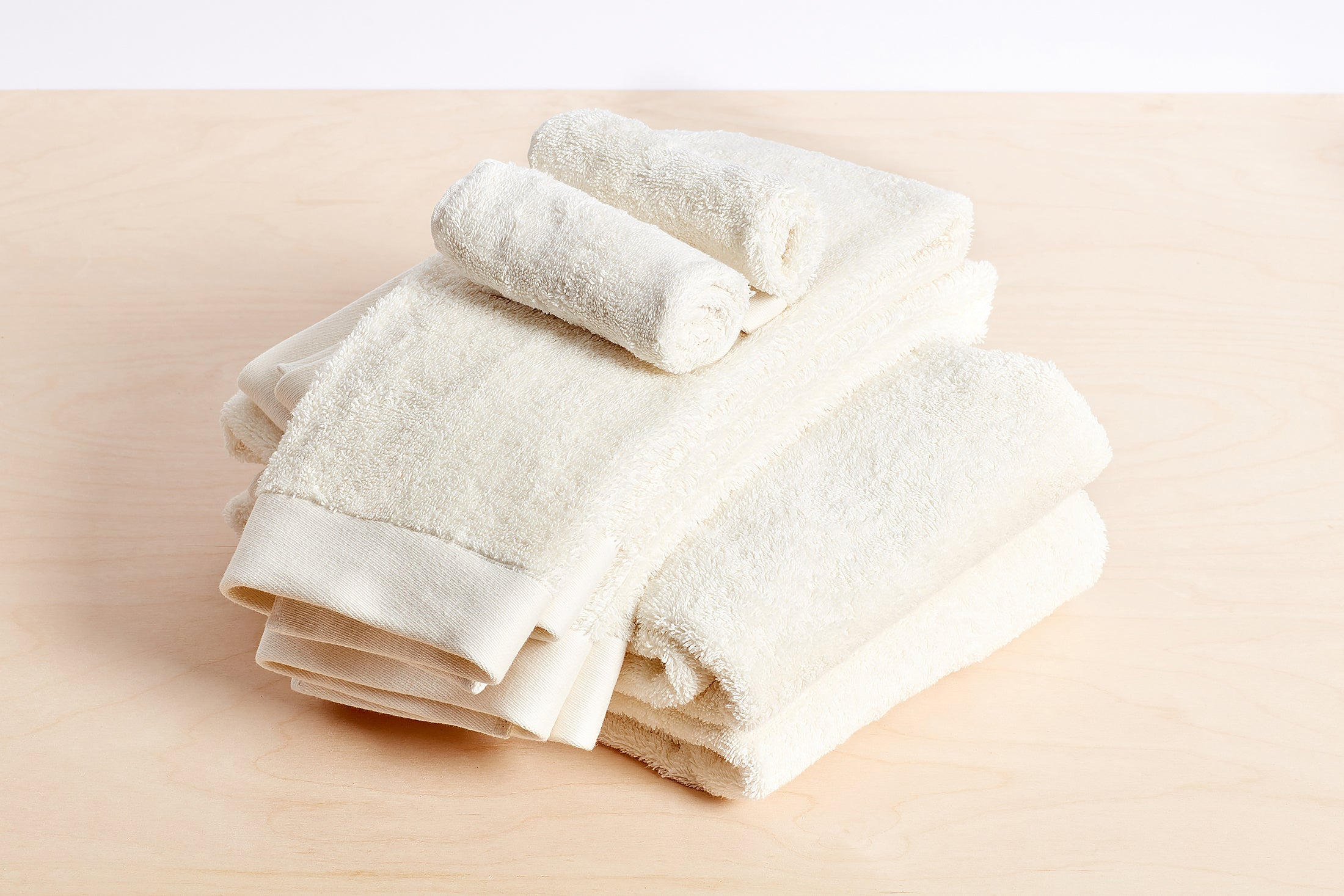 Organic Cotton Towels Bundle; color: white