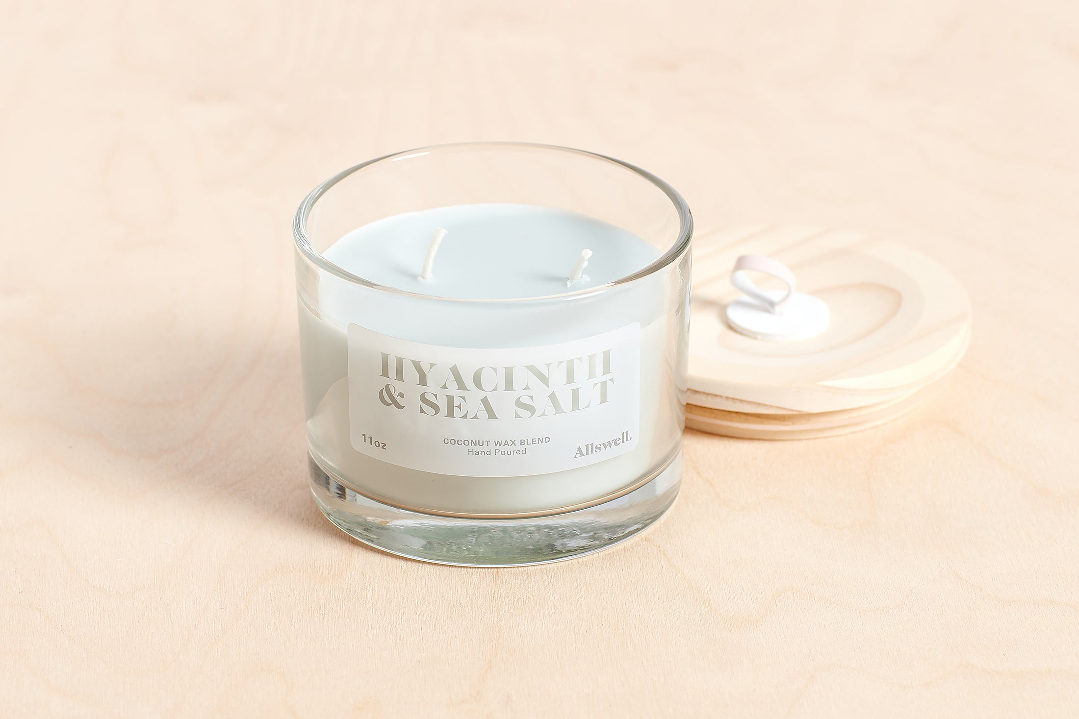 Hyacinth and Sea Salt Coconut Wax Blend Candle