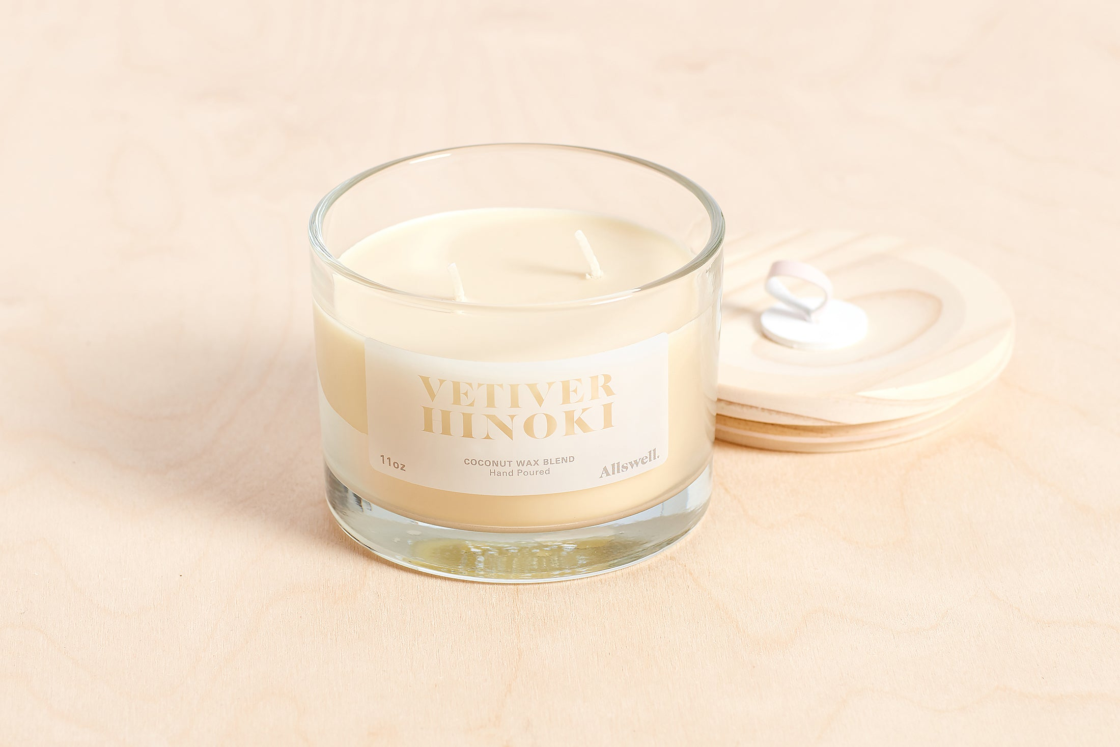 Vetiver Hinoki Coconut Wax Blend Candle
