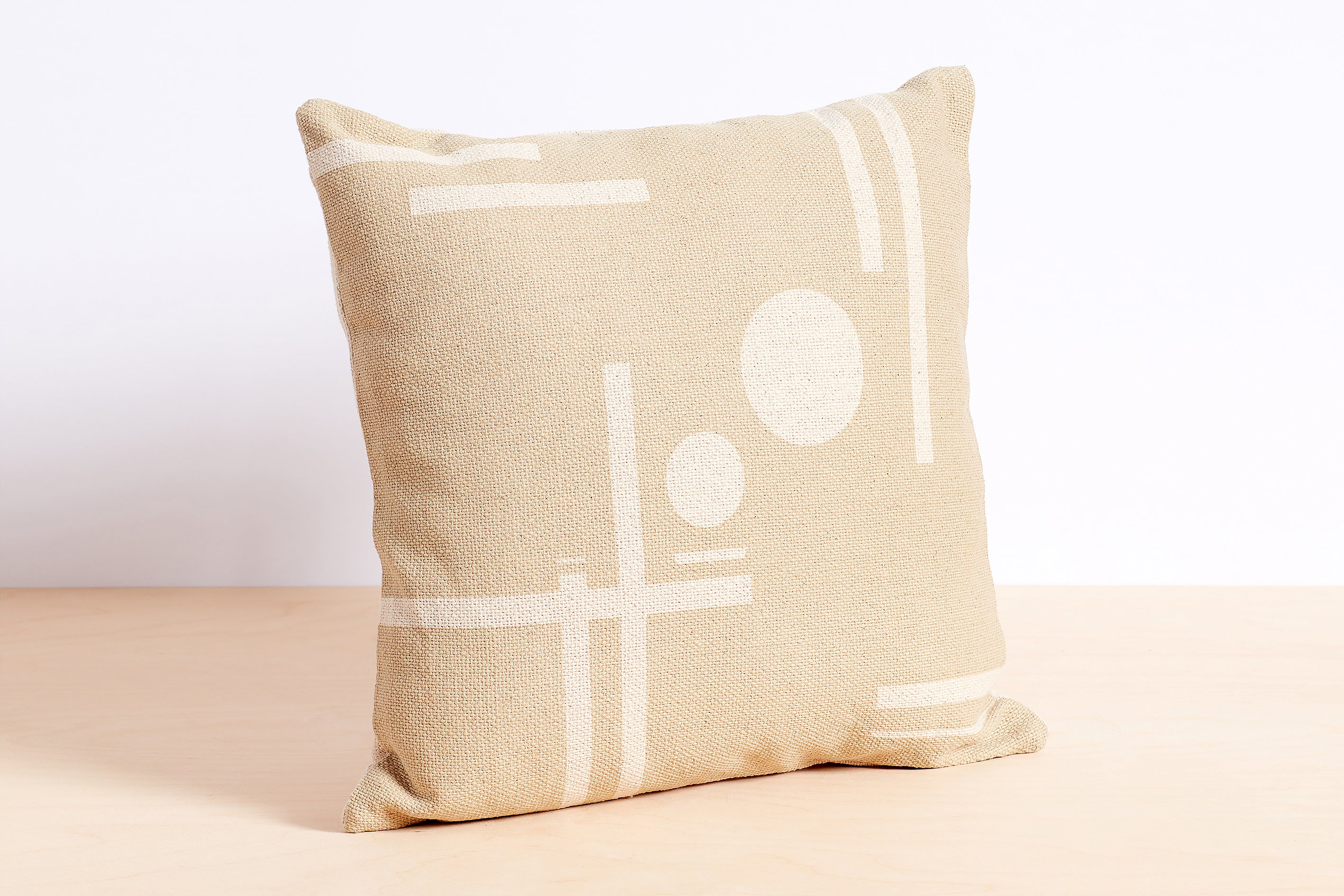 Printed Geo Textured Pillow