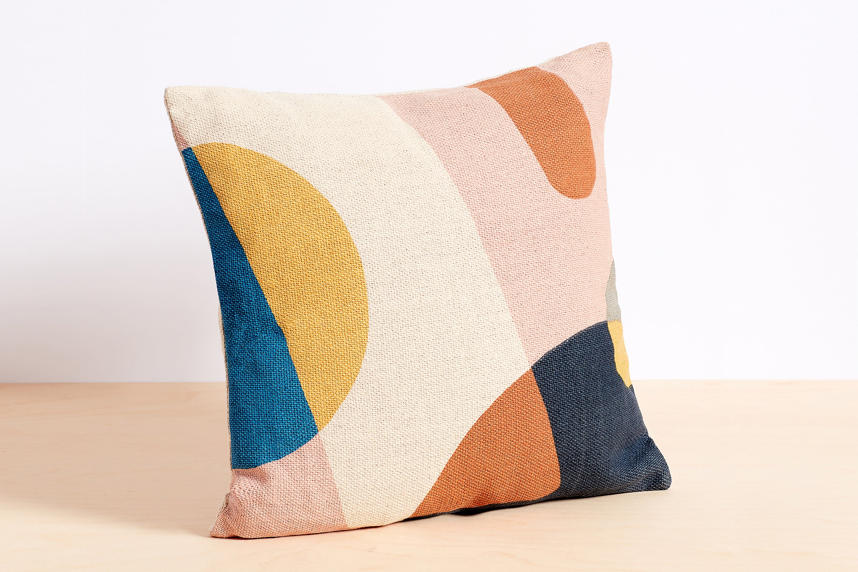 Color Block Printed Pillow